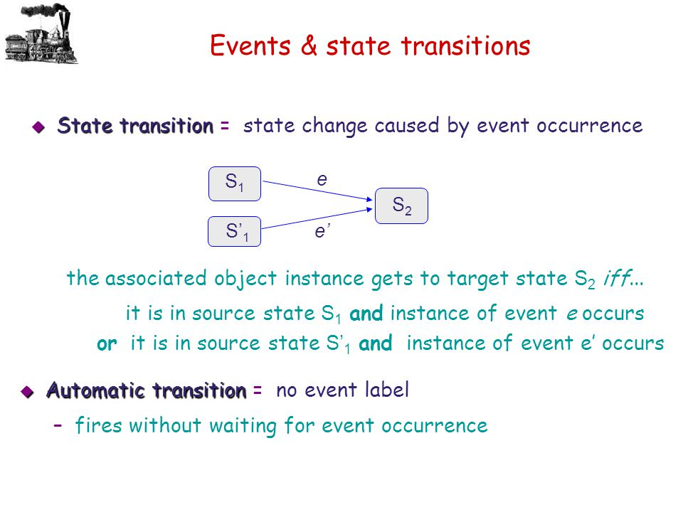 Events & state transitions