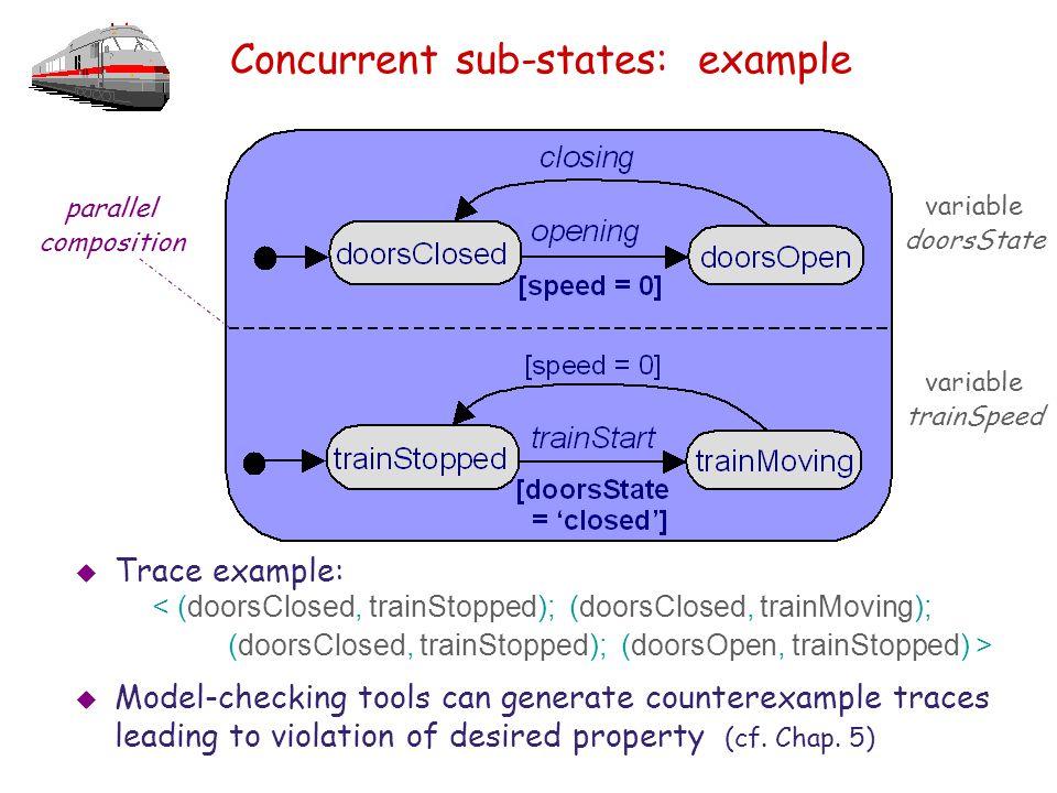 Concurrent sub-states: example