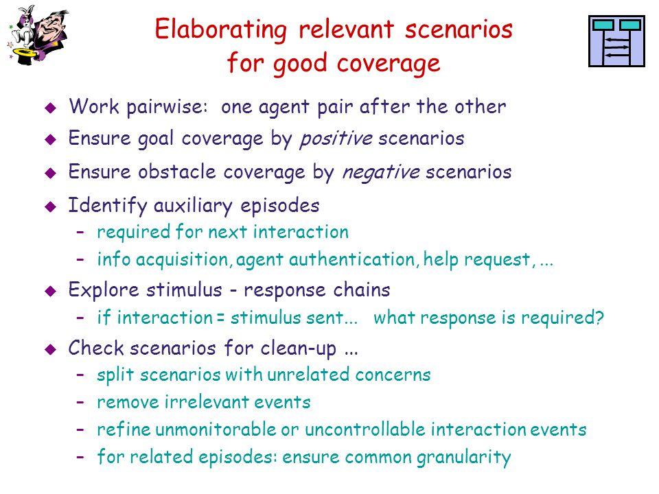 Elaborating relevant scenarios for good coverage