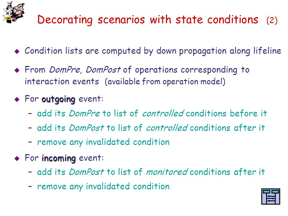 Decorating scenarios with state conditions (2)
