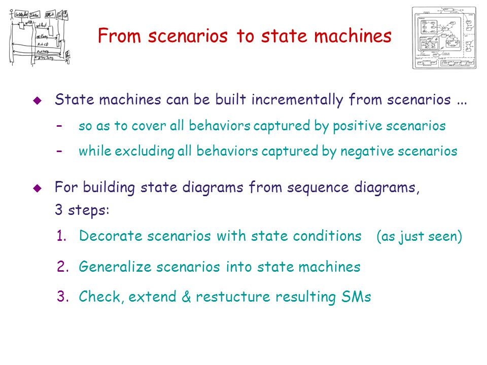 From scenarios to state machines