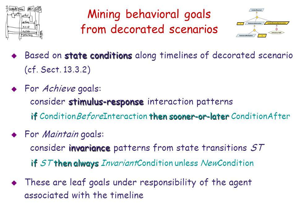 Mining behavioral goals from decorated scenarios