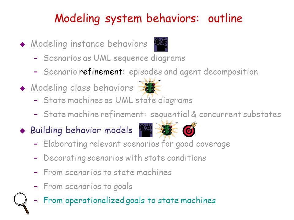 Modeling system behaviors: outline