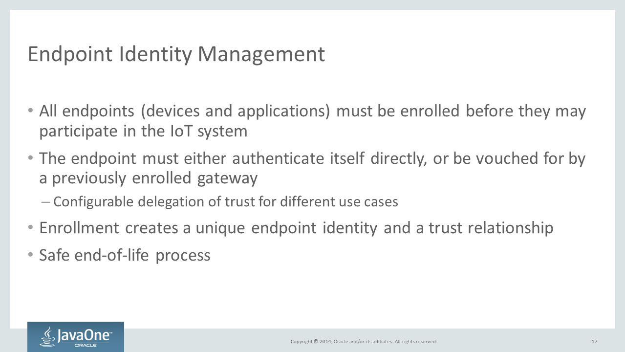 Endpoint Identity Management