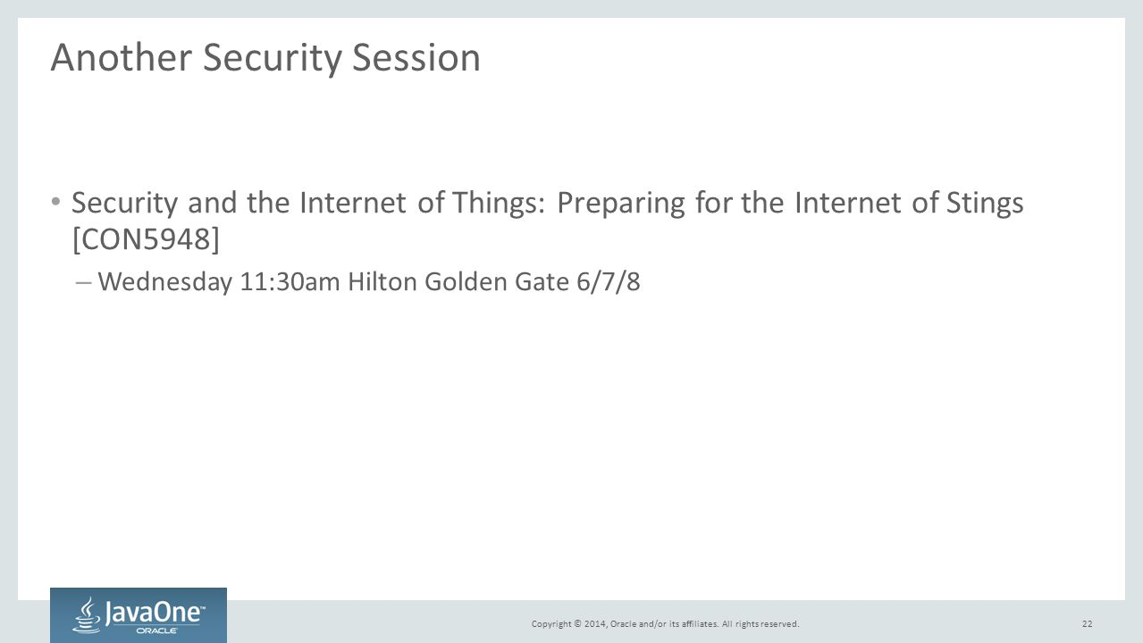 Another Security Session