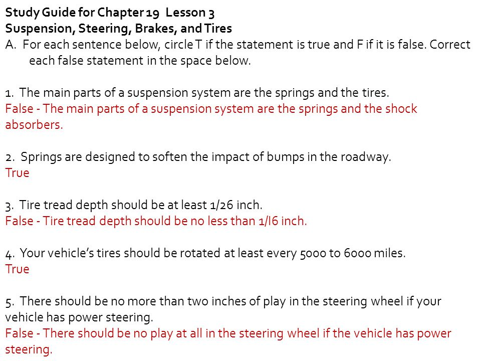 Study Guide for Chapter 19 Lesson 3