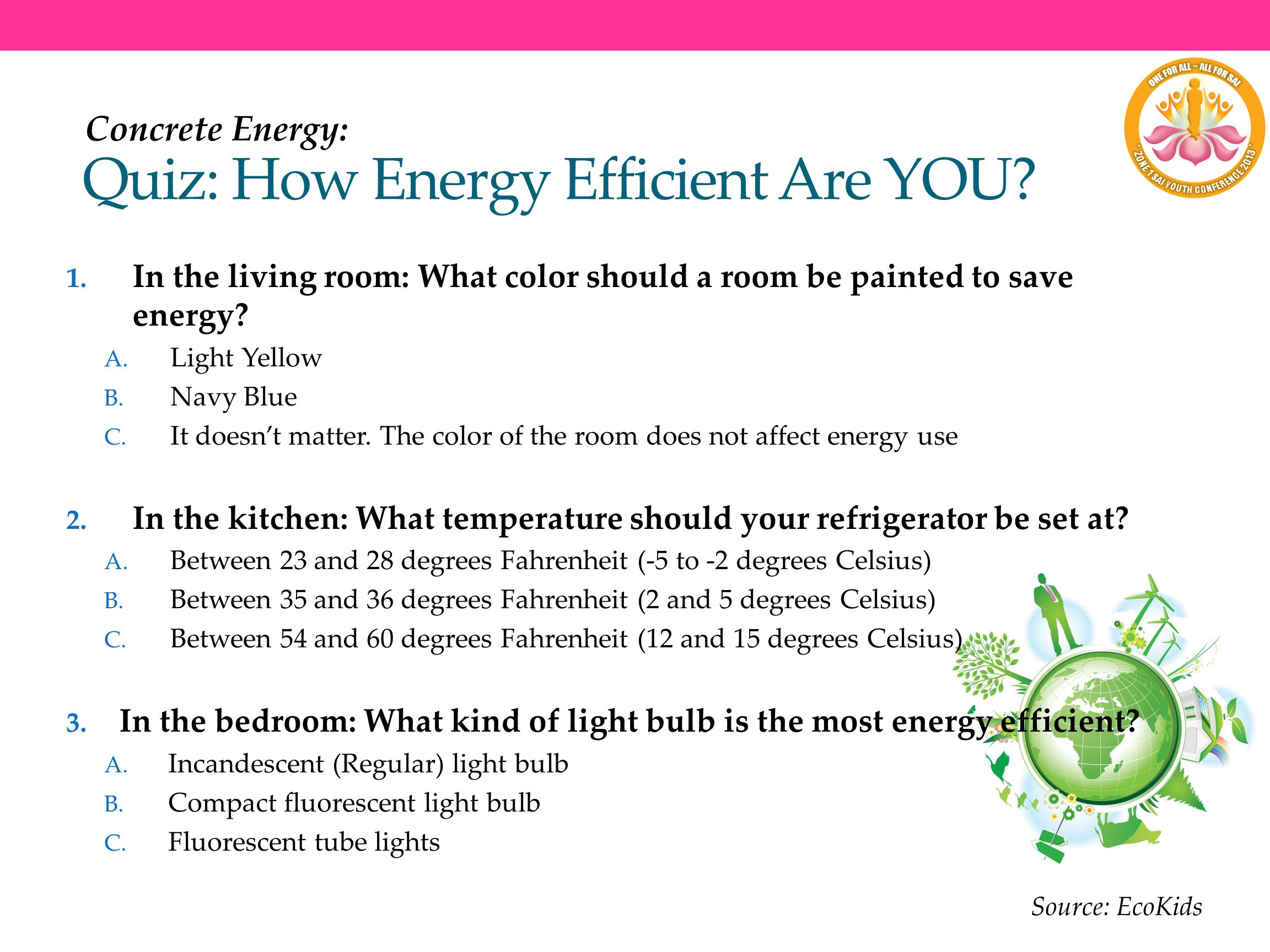Quiz: How Energy Efficient Are YOU