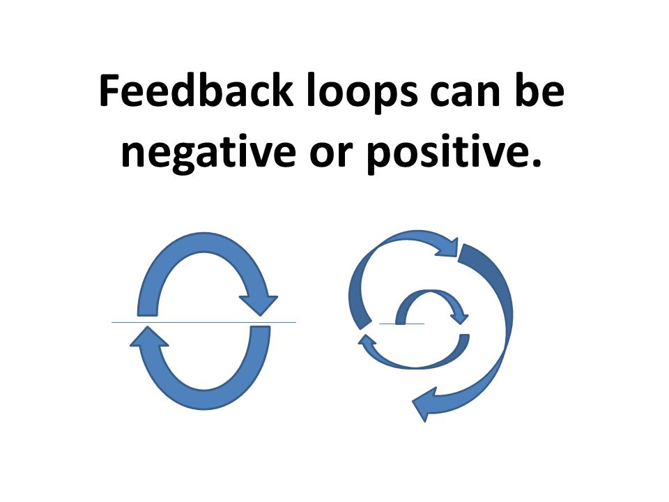 Feedback loops can be negative or positive.