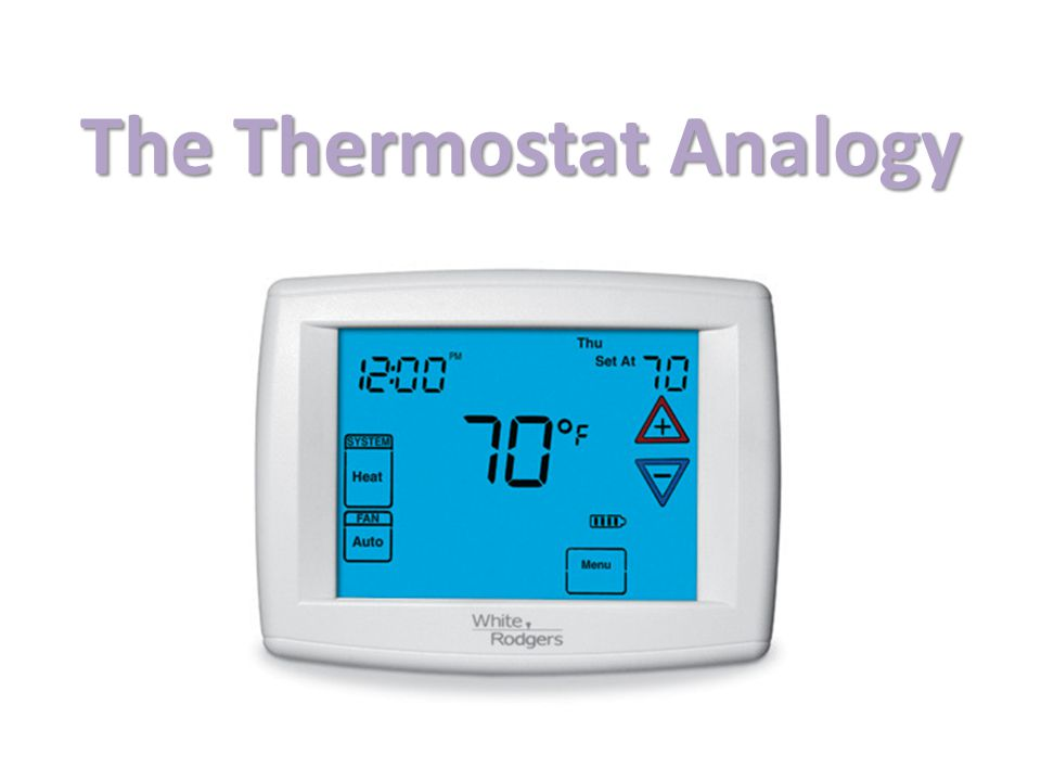 The Thermostat Analogy