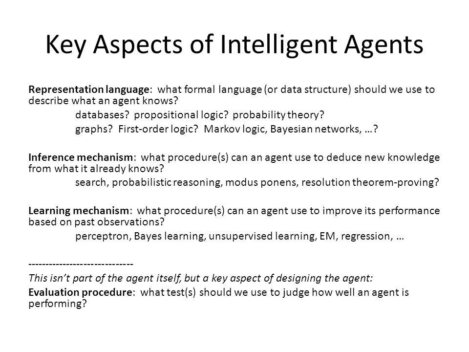 Key Aspects of Intelligent Agents