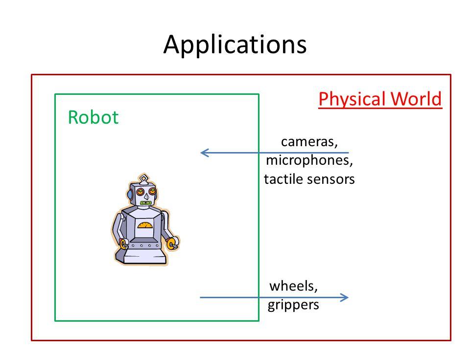 microphones, tactile sensors