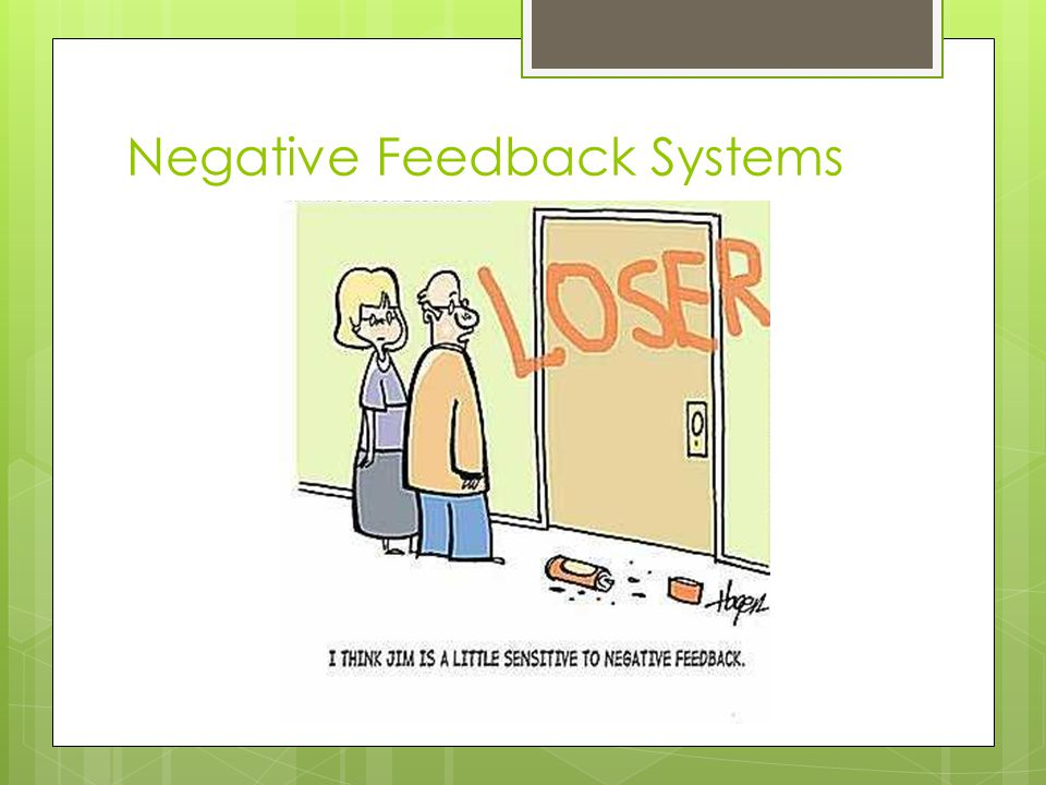 Negative Feedback Systems