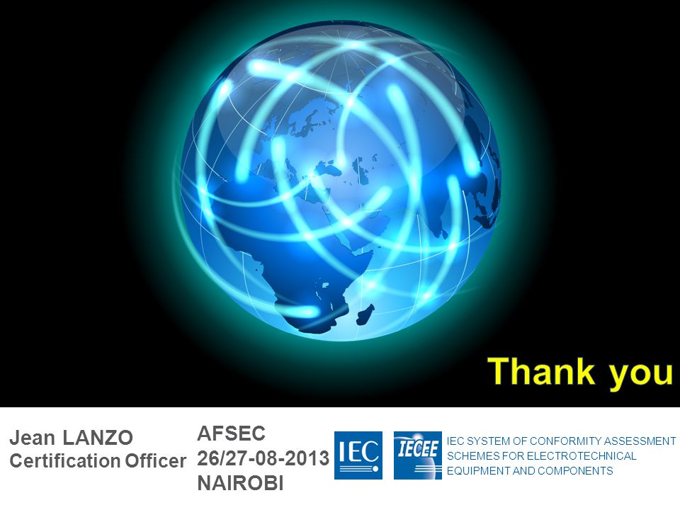 Thank you AFSEC 26/27-08-2013 NAIROBI Jean LANZO Certification Officer
