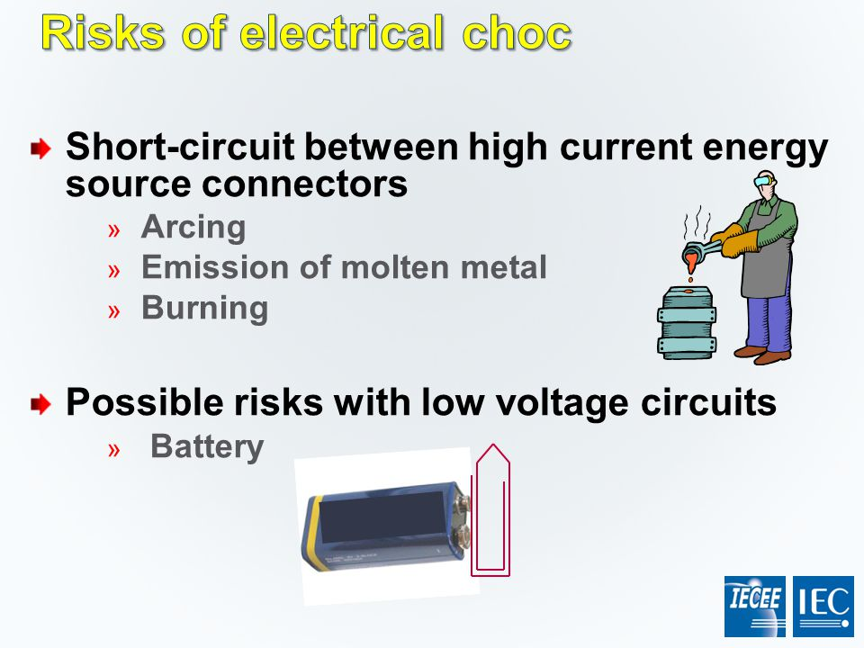 Risks of electrical choc