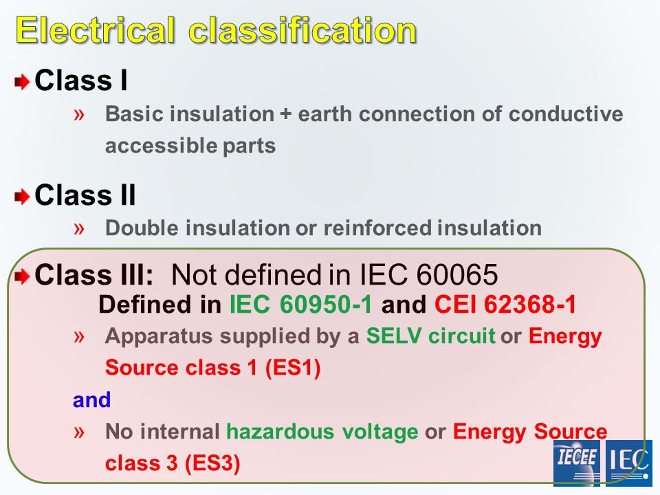 Electrical classification