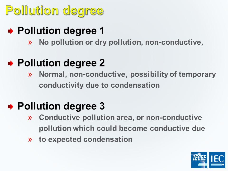 Pollution degree Pollution degree 1 Pollution degree 2