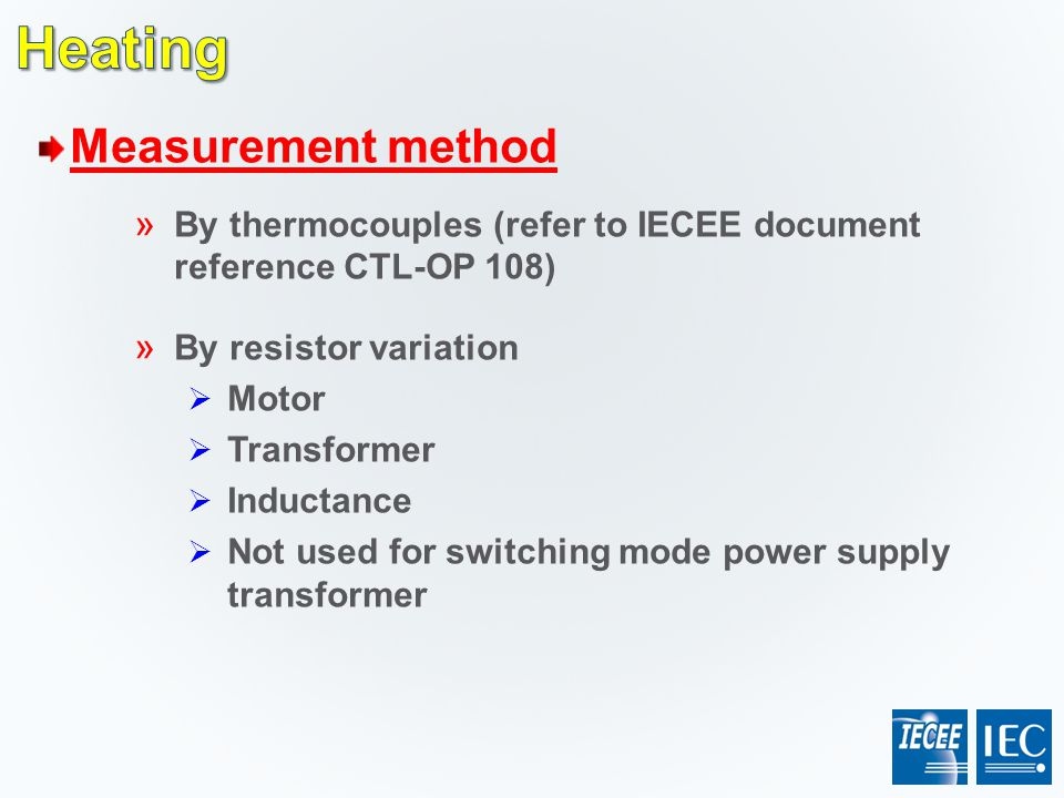 Heating Measurement method