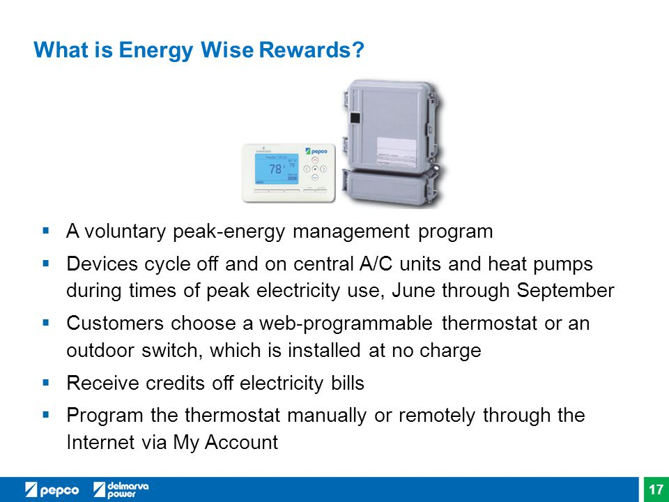 What is Energy Wise Rewards