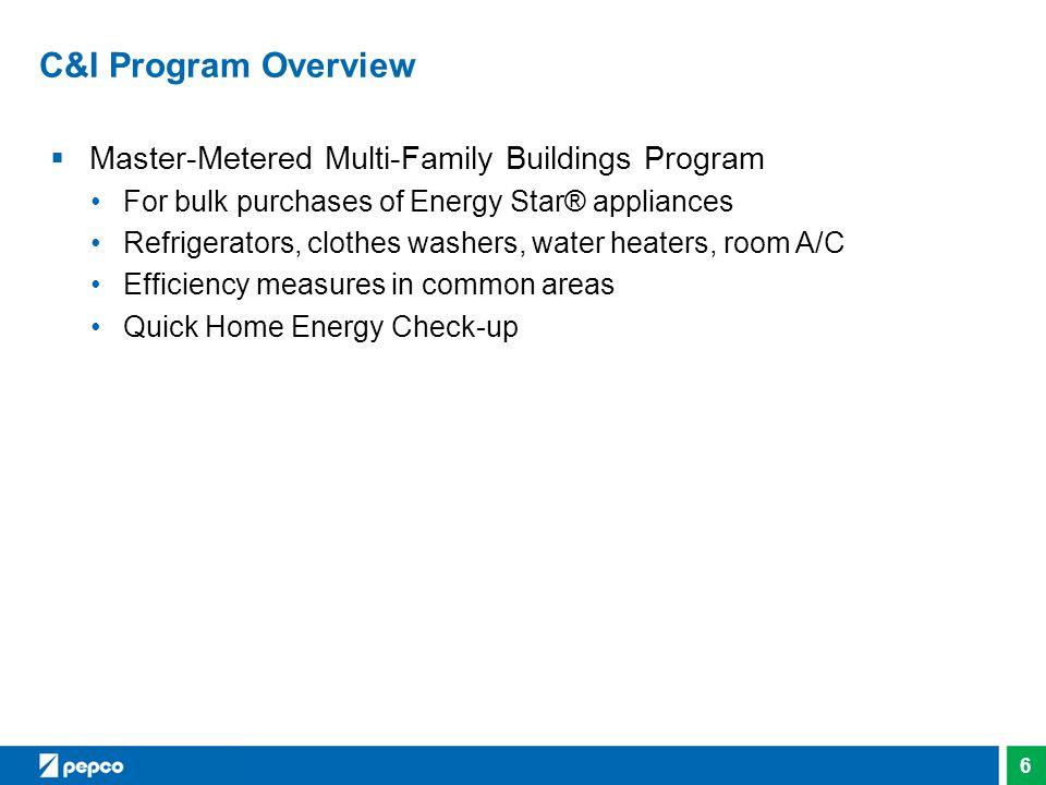 C&I Program Overview Master-Metered Multi-Family Buildings Program
