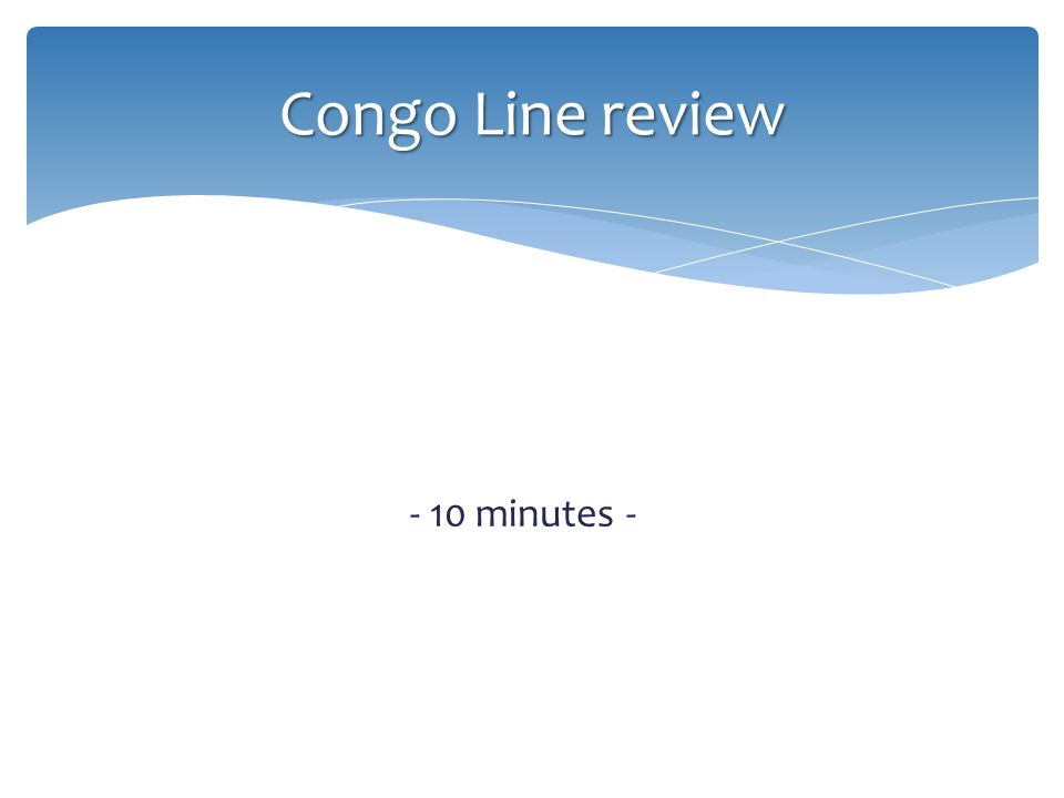 Congo Line review - 10 minutes -