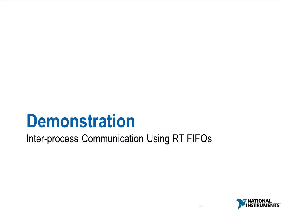 Demonstration Inter-process Communication Using RT FIFOs