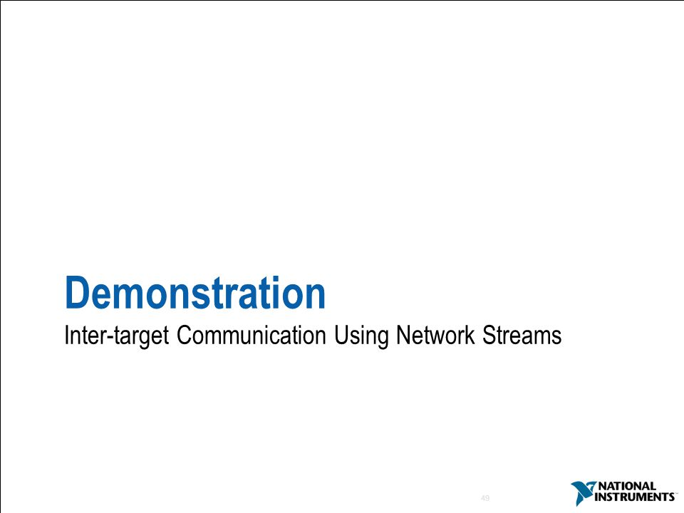 Demonstration Inter-target Communication Using Network Streams