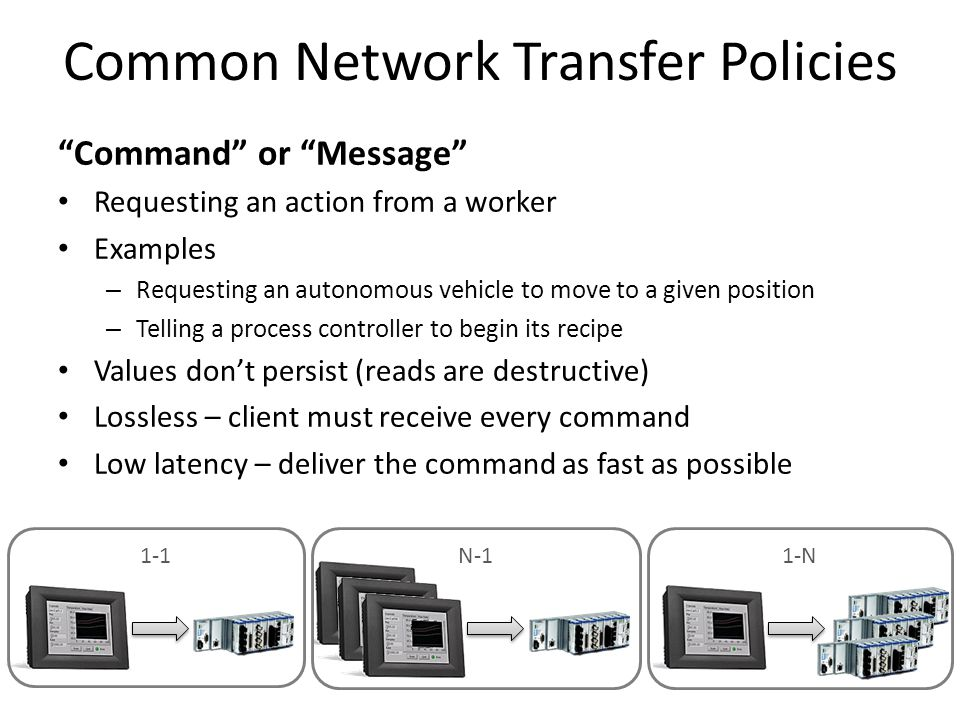 Common Network Transfer Policies