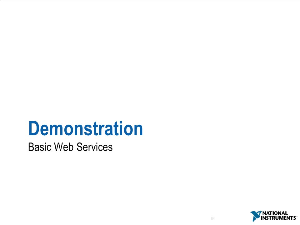 Demonstration Basic Web Services