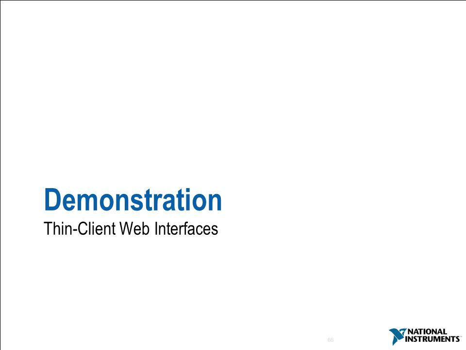Demonstration Thin-Client Web Interfaces