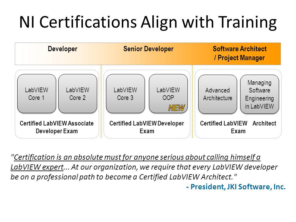 NI Certifications Align with Training