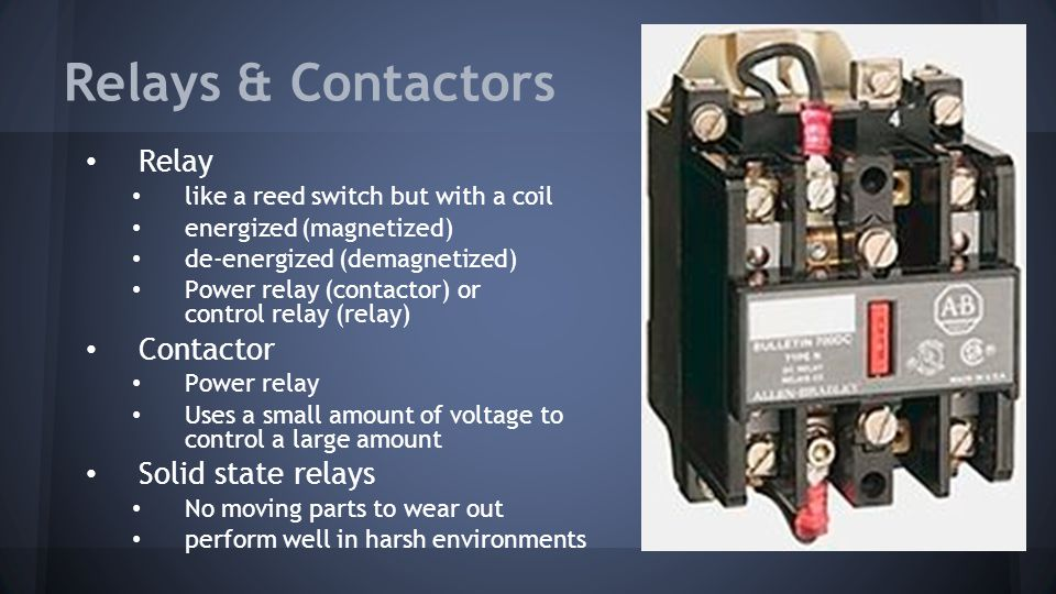 Relays & Contactors Relay Contactor Solid state relays