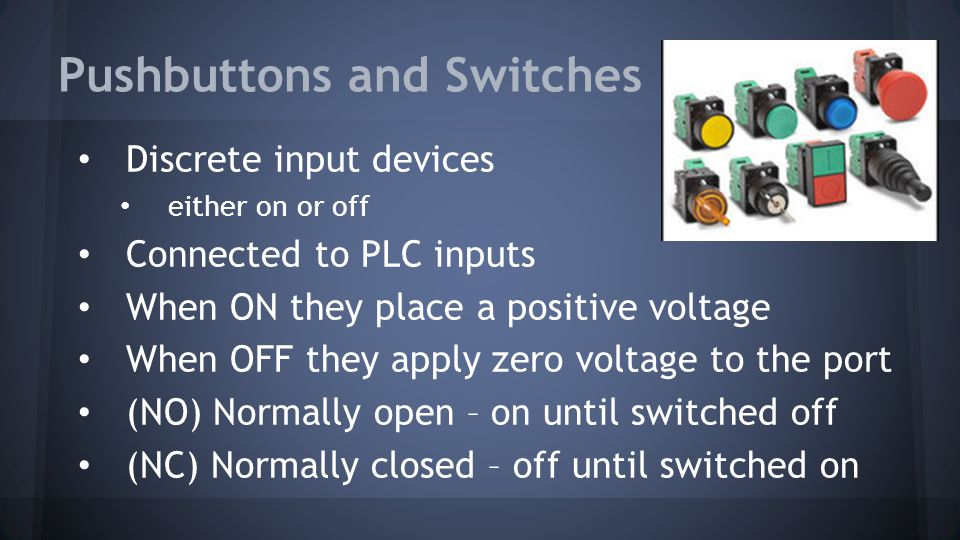 Pushbuttons and Switches