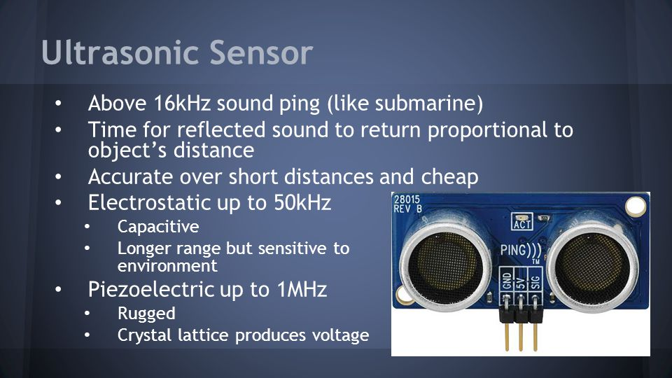 Ultrasonic Sensor Above 16kHz sound ping (like submarine)