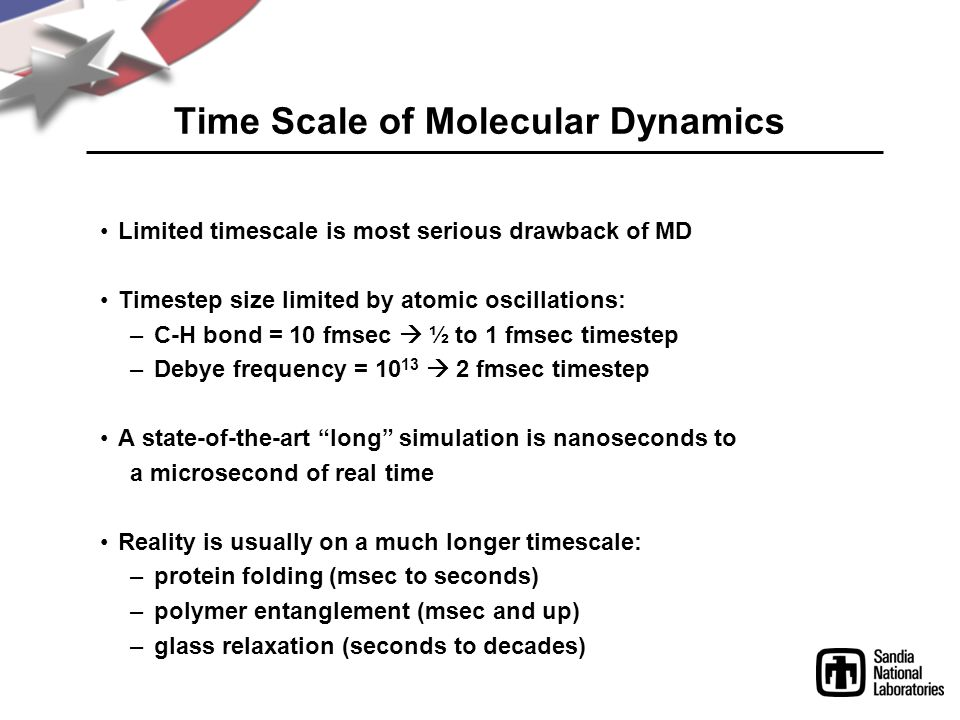 Time Scale of Molecular Dynamics