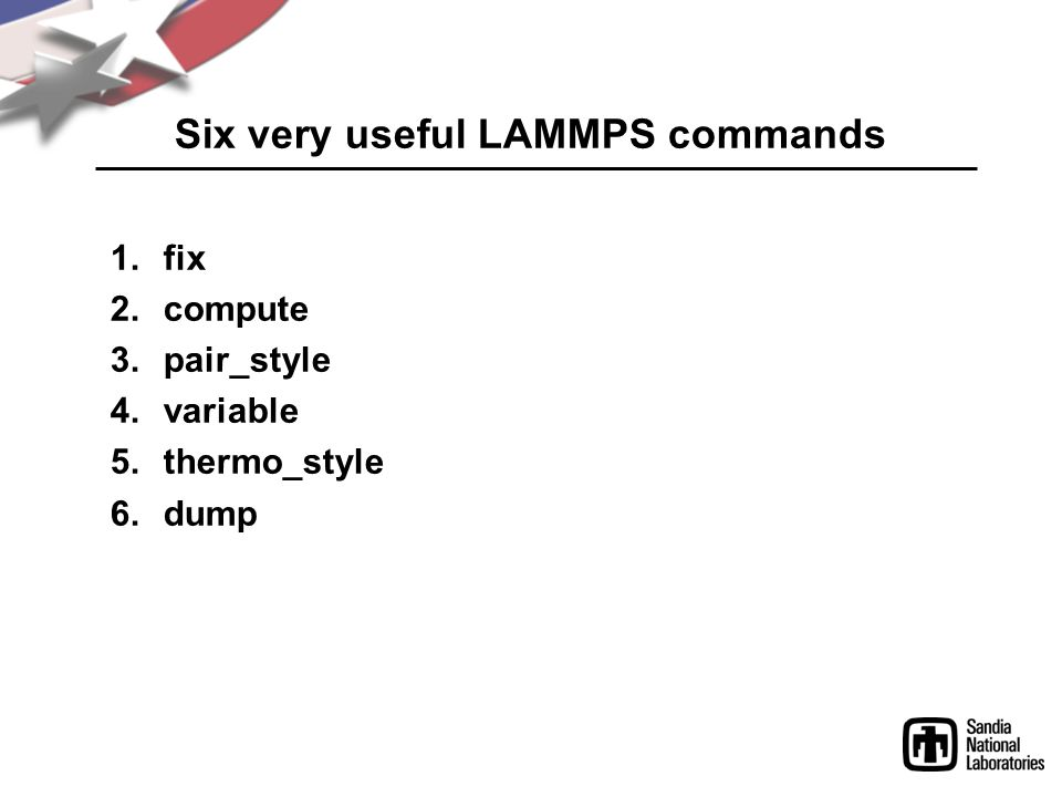 Six very useful LAMMPS commands