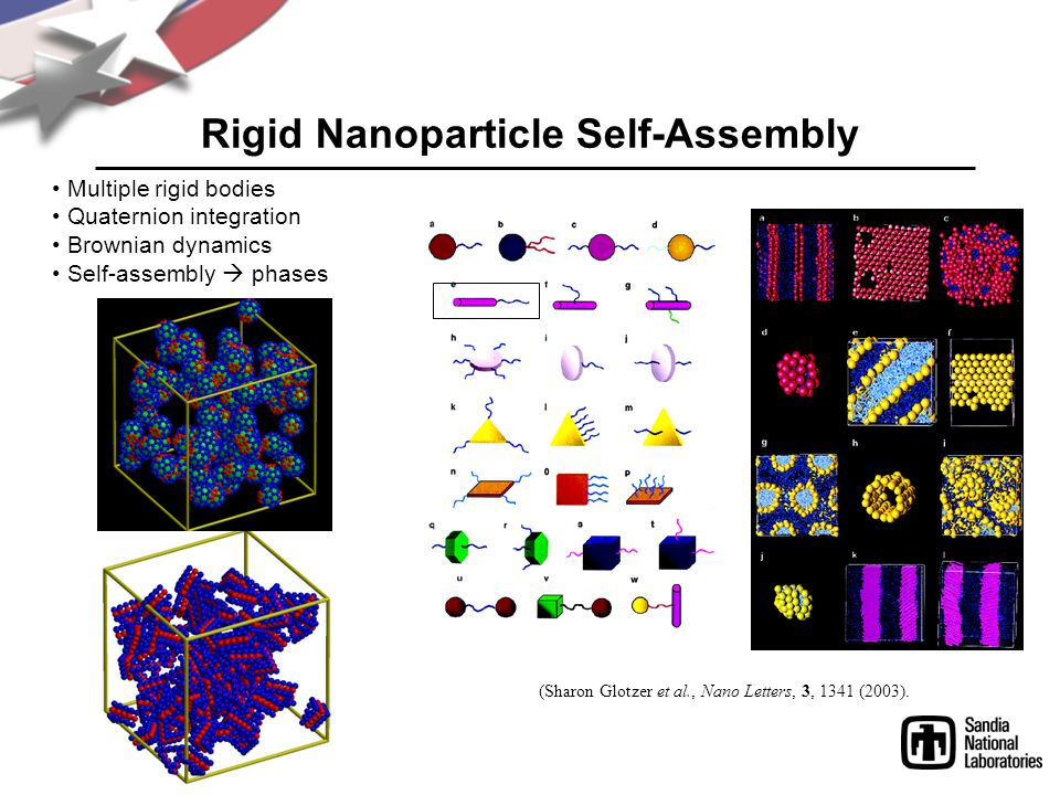 Rigid Nanoparticle Self-Assembly