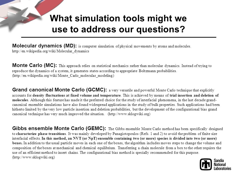What simulation tools might we use to address our questions