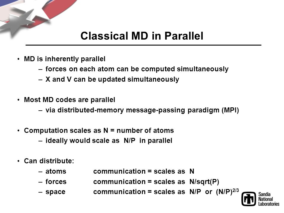 Classical MD in Parallel