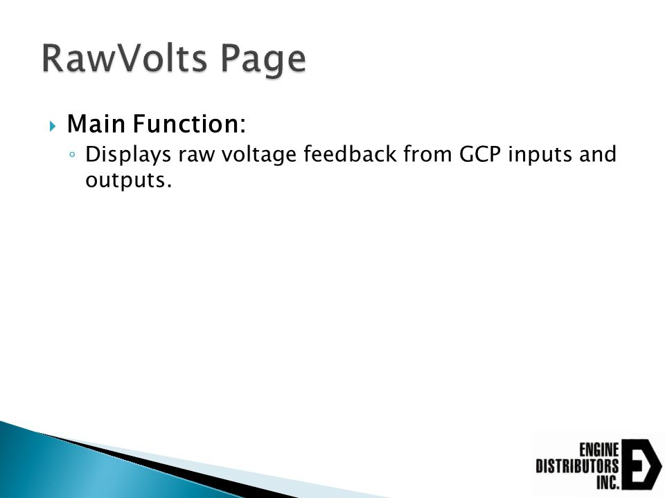 RawVolts Page Main Function: