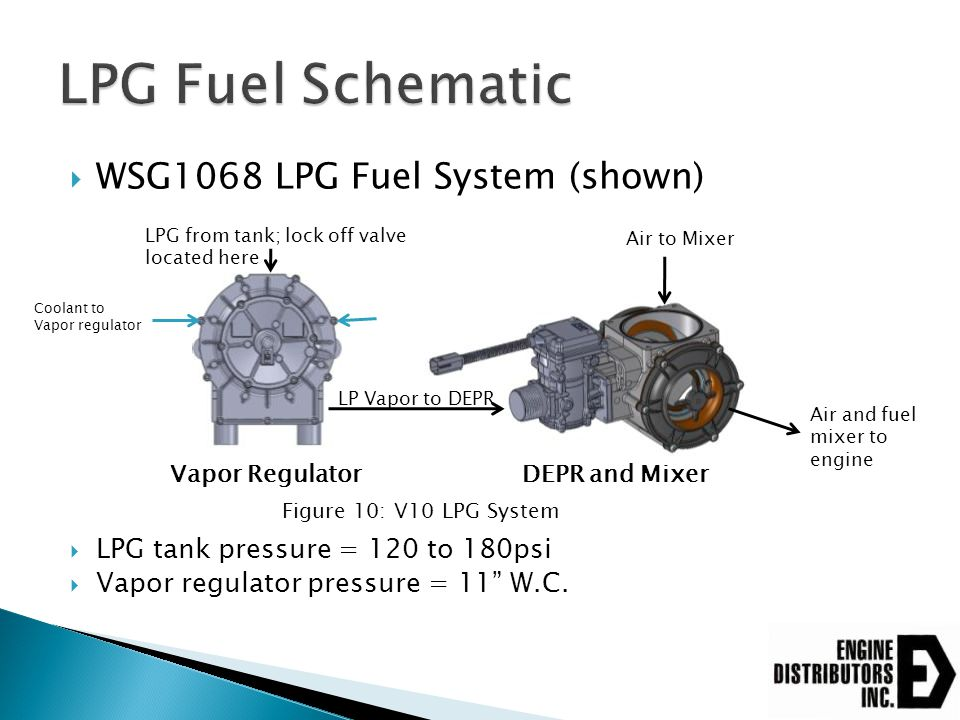 LPG Fuel Schematic WSG1068 LPG Fuel System (shown)