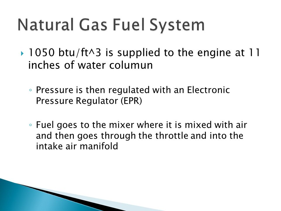 Natural Gas Fuel System