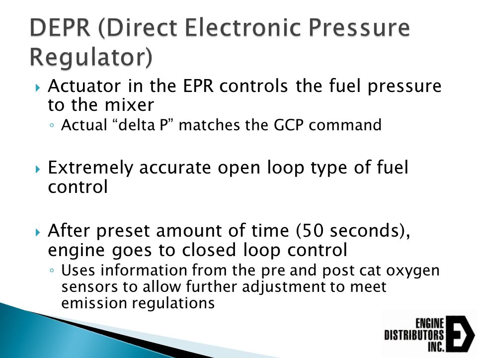 DEPR (Direct Electronic Pressure Regulator)