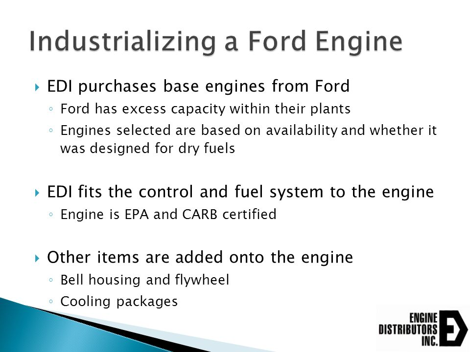 Industrializing a Ford Engine