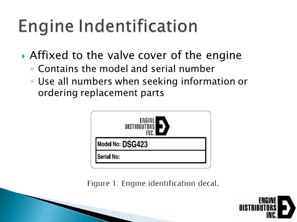 Engine Indentification