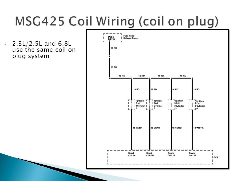 MSG425 Coil Wiring (coil on plug)