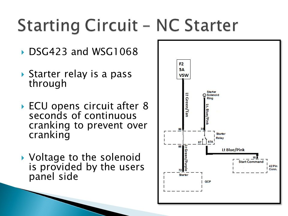 Starting Circuit – NC Starter