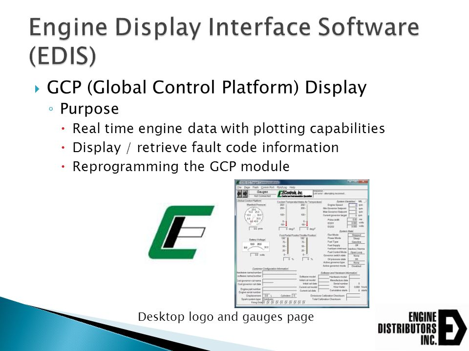 Engine Display Interface Software (EDIS)