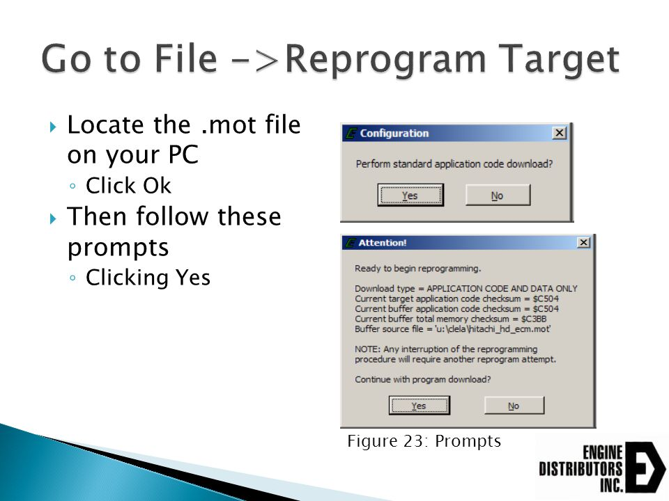 Go to File ->Reprogram Target