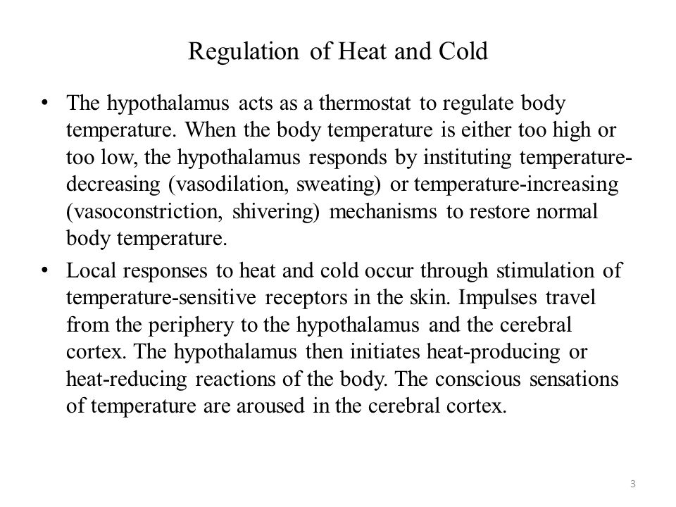 Regulation of Heat and Cold