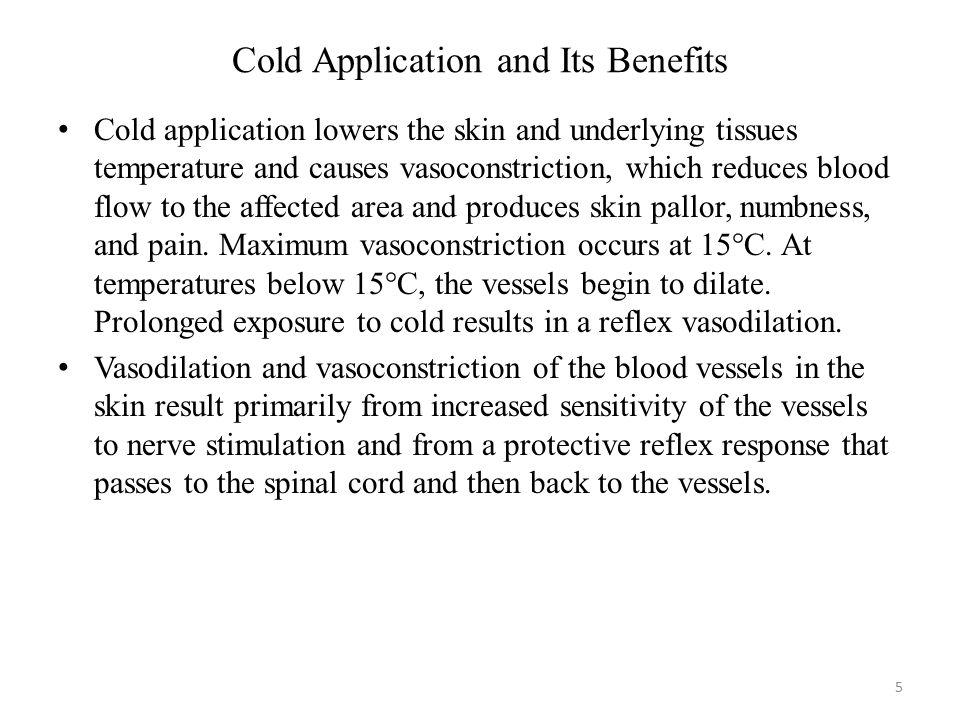 Cold Application and Its Benefits